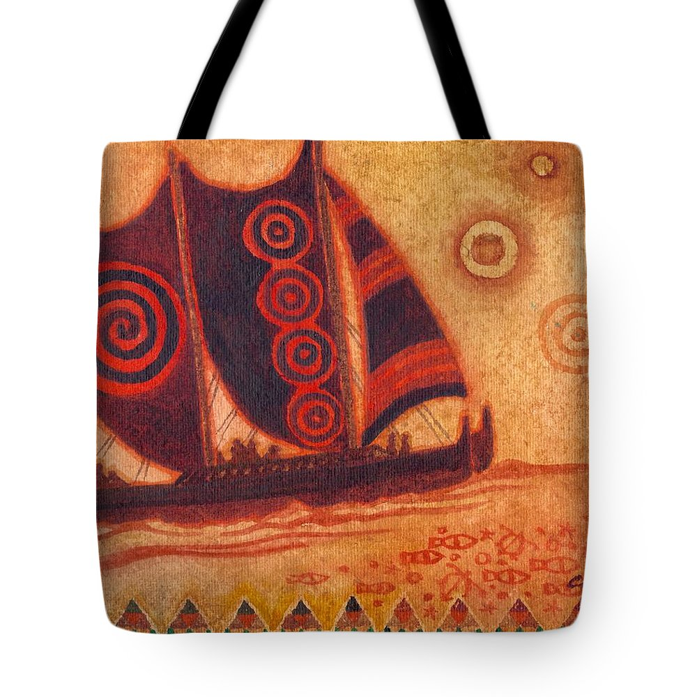 Hawaii Tote Bag featuring the painting Hokulea 10 by Cynthia Conklin