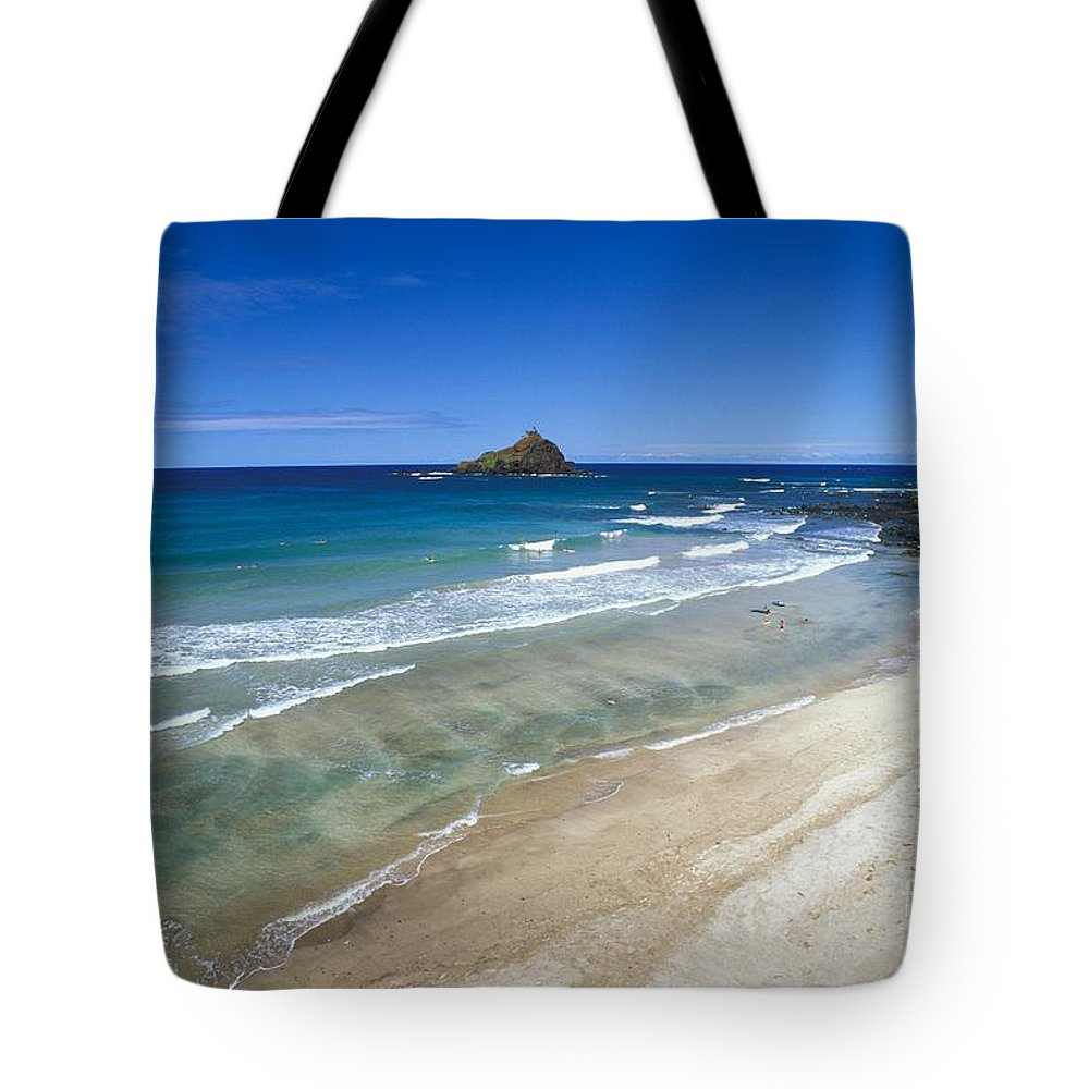 Above Tote Bag featuring the photograph Hokuula Beach by Ray Mains - Printscapes