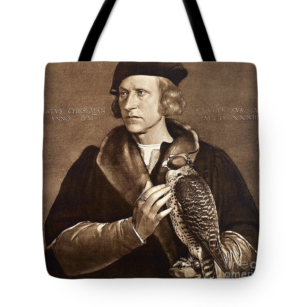 1533 Tote Bag featuring the photograph Holbein: Falconer, 1533 by Granger