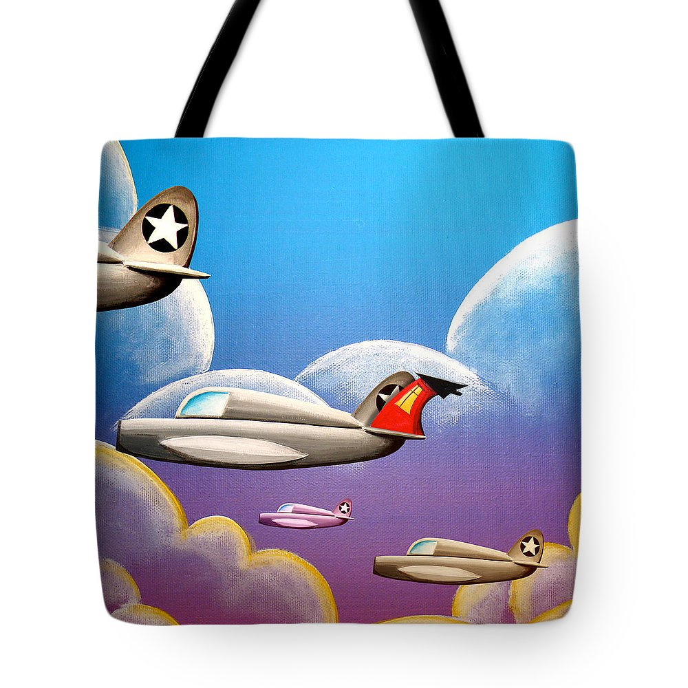 House Tote Bag featuring the painting Hold On Tight by Cindy Thornton