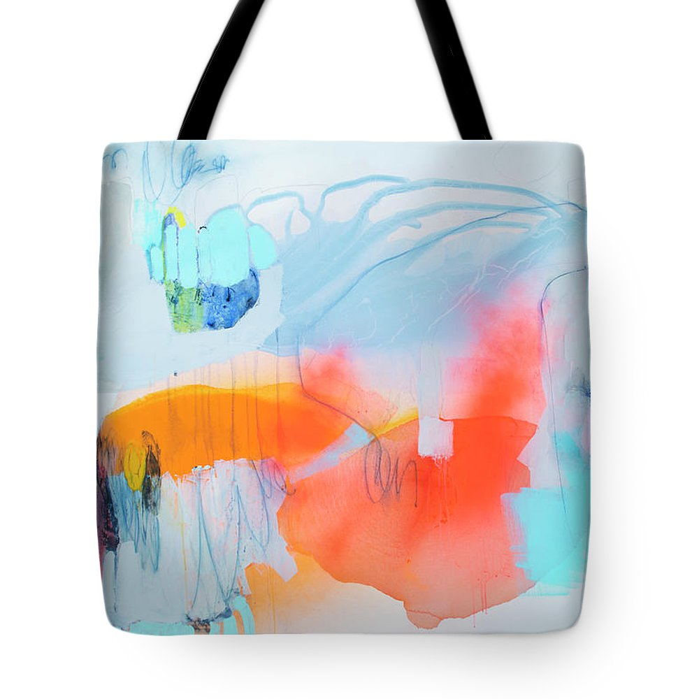 Abstract Tote Bag featuring the painting Hold Out by Claire Desjardins