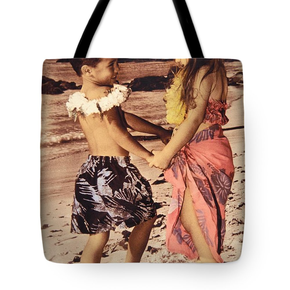 Affection Tote Bag featuring the photograph Holding Hands by Himani - Printscapes