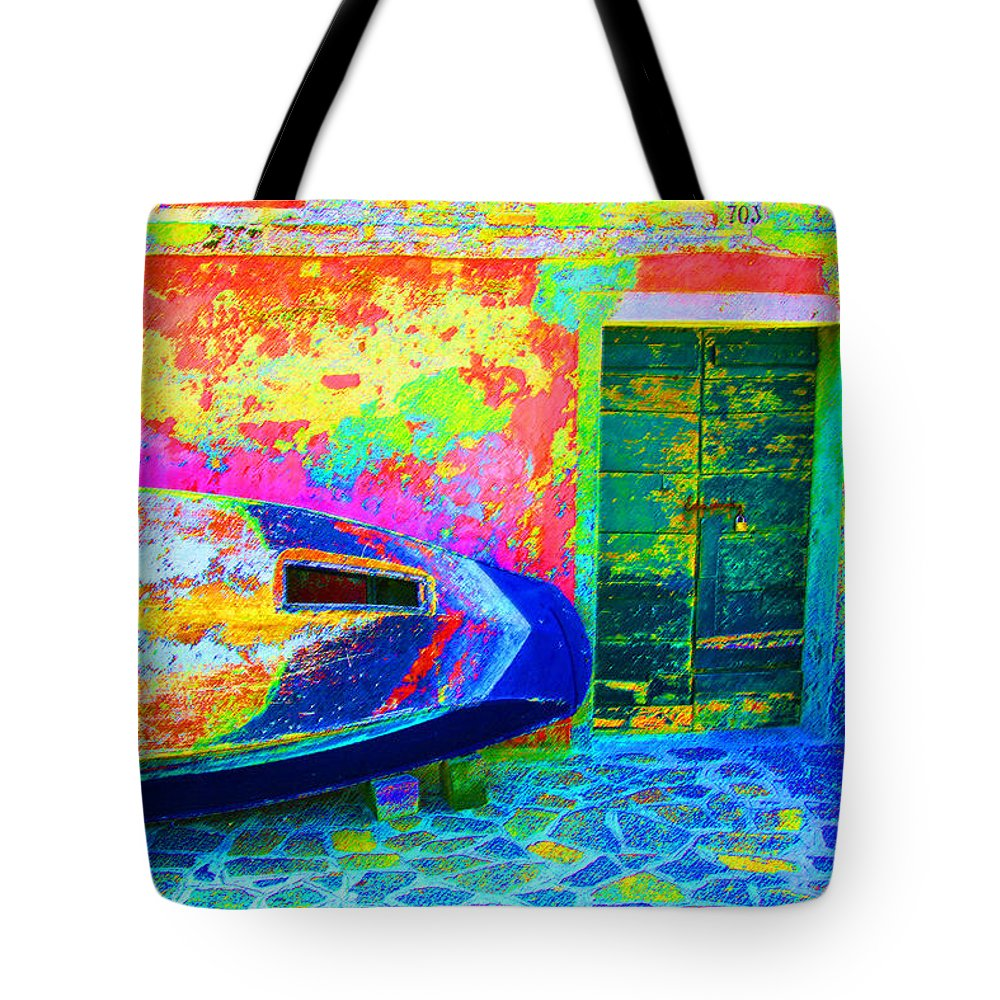 Digital Pastel Tote Bag featuring the digital art Hole In The Boat by Donna Corless