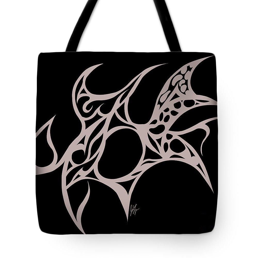 Tote Bag featuring the digital art Hole by Jamie Lynn