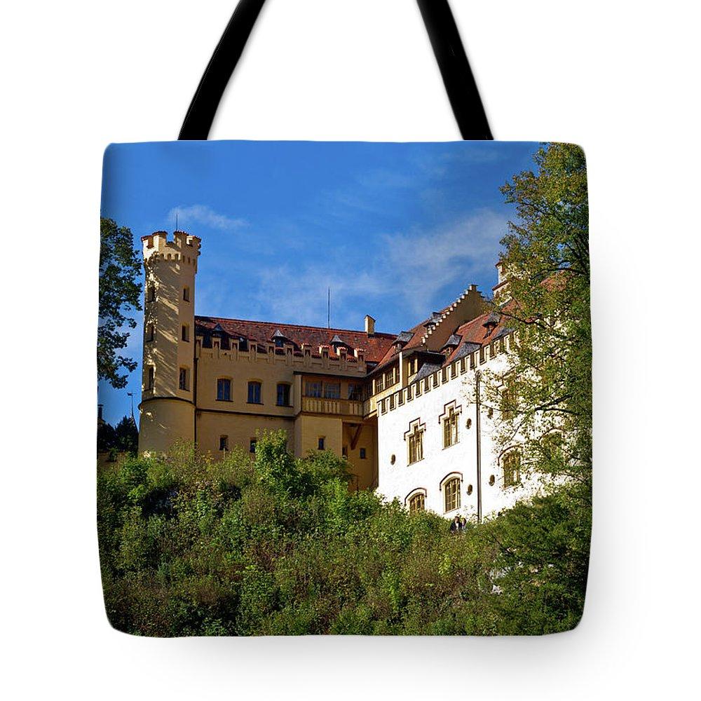 Schloss Tote Bag featuring the photograph Holenschwangau Castle 3 by Bernard Barcos