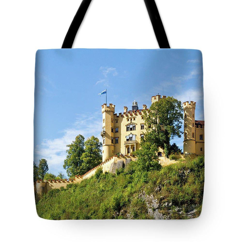 Schloss Tote Bag featuring the photograph Holenschwangau Castle 5 by Bernard Barcos