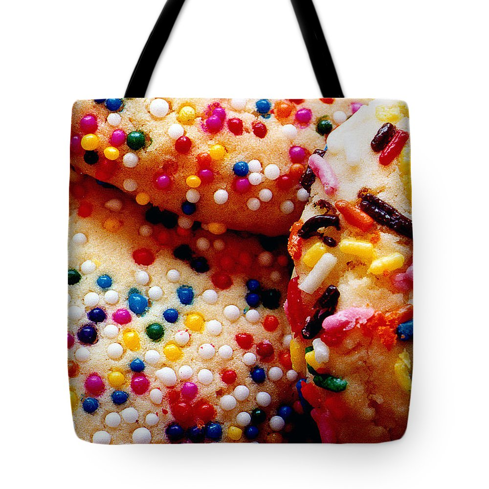 Cookie Tote Bag featuring the photograph Holiday Cookies by Nancy Mueller