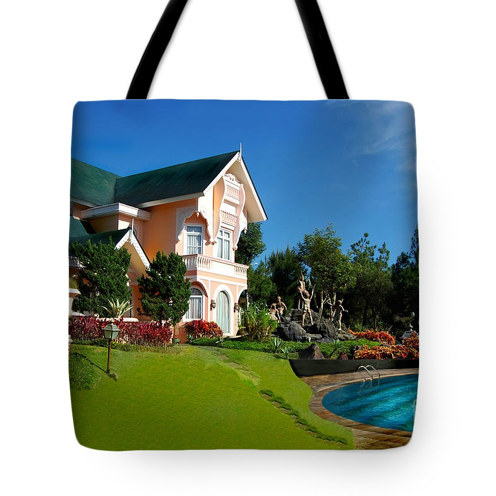 House Tote Bag featuring the photograph Holiday Home by Charuhas Images