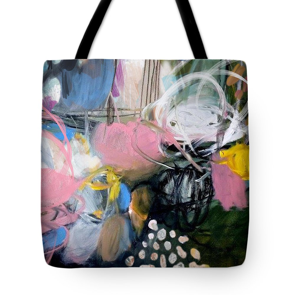 Abstract Tote Bag featuring the digital art Holiday II by Theresa Bean