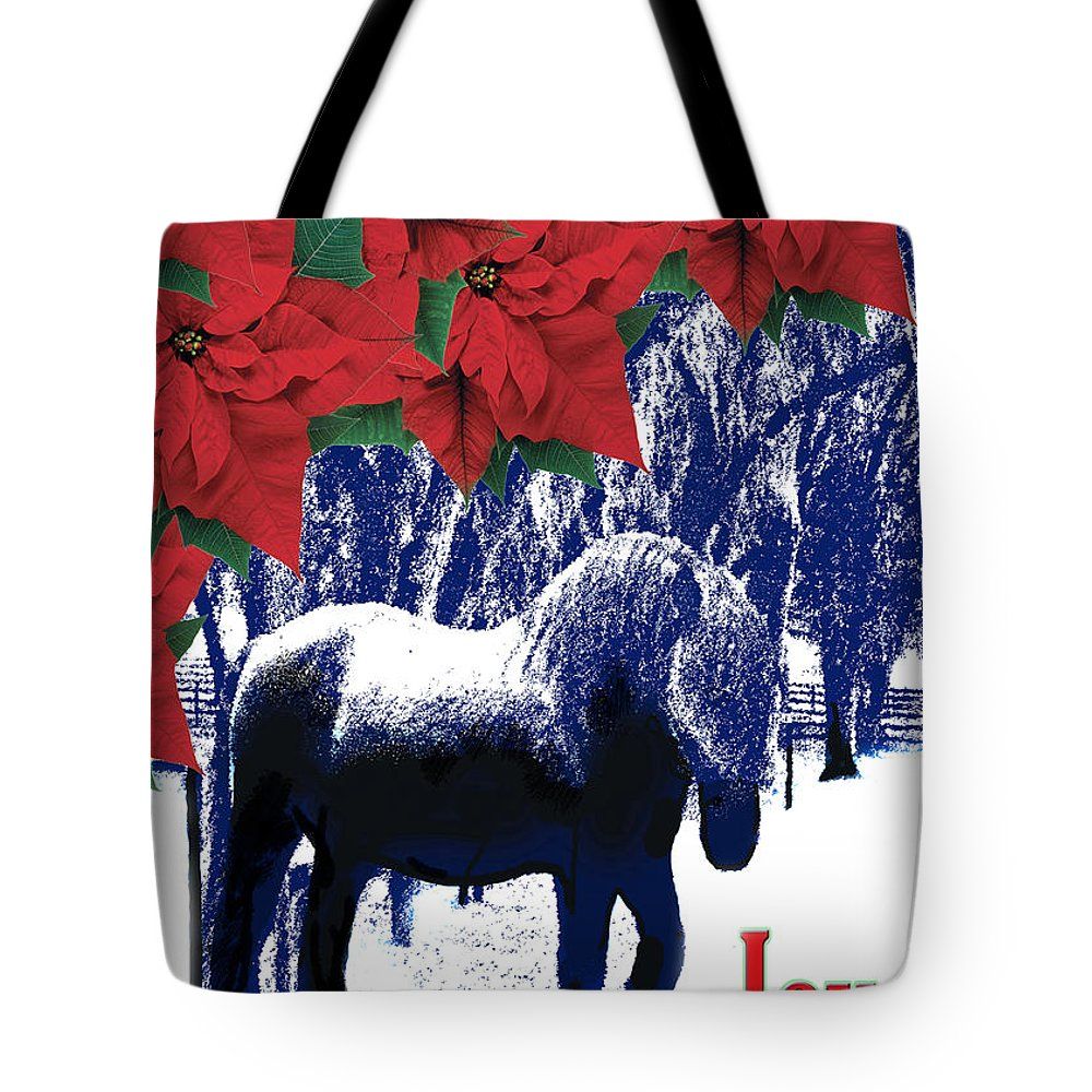 Christmas Card Tote Bag featuring the photograph Holiday Joy Card by Adele Moscaritolo