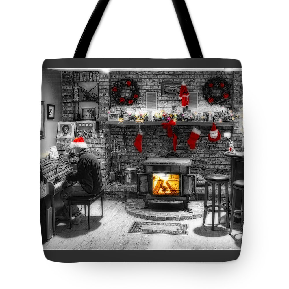 Holidays Tote Bag featuring the photograph Holiday Spirit Magic Dream by James BO Insogna