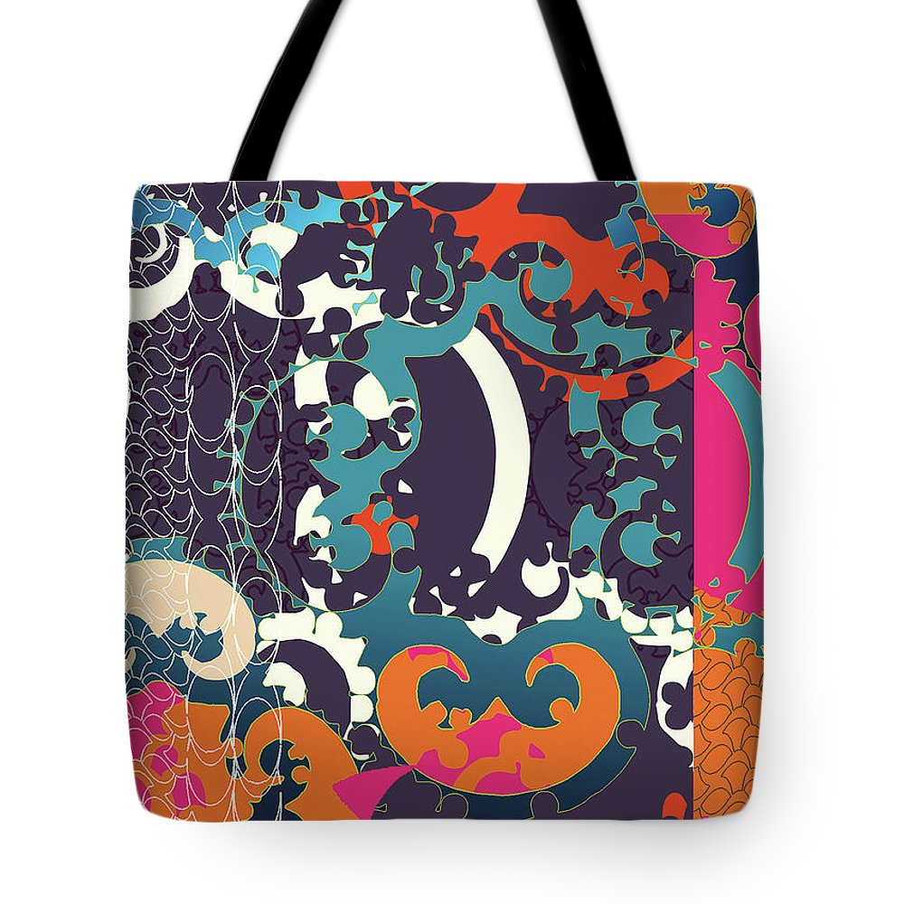 Festive Tote Bag featuring the digital art Holiday by Ceil Diskin