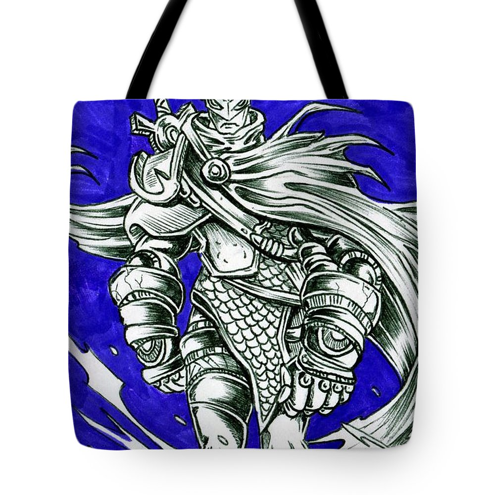 Hollowed Stride Tote Bag featuring the drawing Hollowed Stride by William P