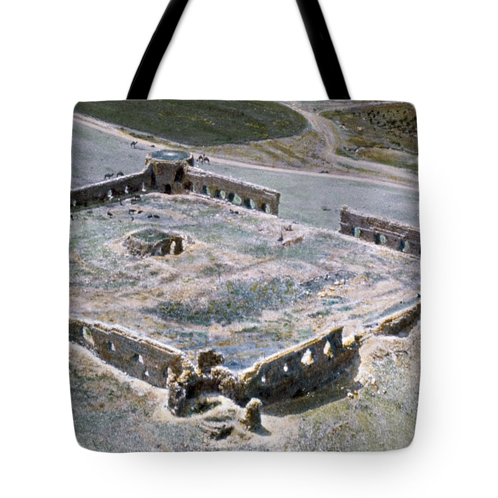 1950s Tote Bag featuring the photograph Holy Land: Caravansary by Granger