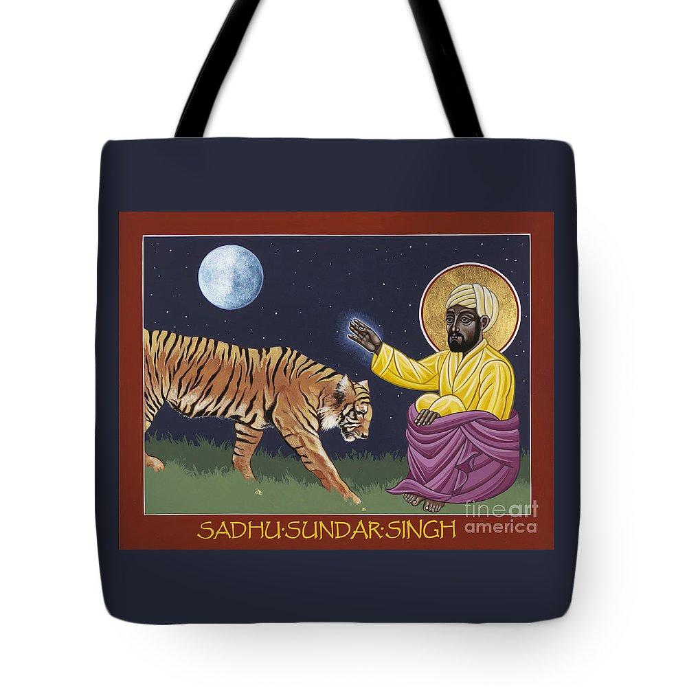 Holy Sadhu Sundar Singh Tote Bag featuring the painting Holy Sadhu Sundar Singh 189 by William Hart McNichols