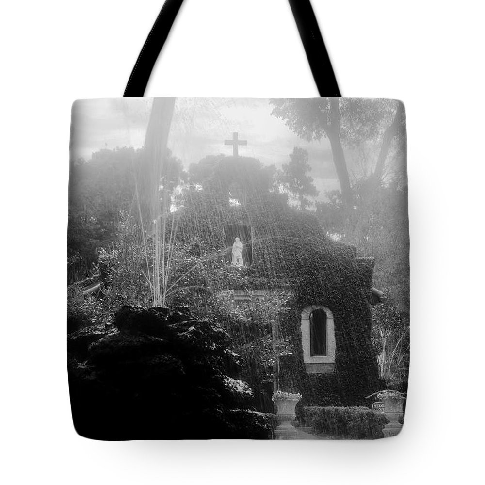 Fountain Tote Bag featuring the photograph Holy Waters by David Lee Thompson