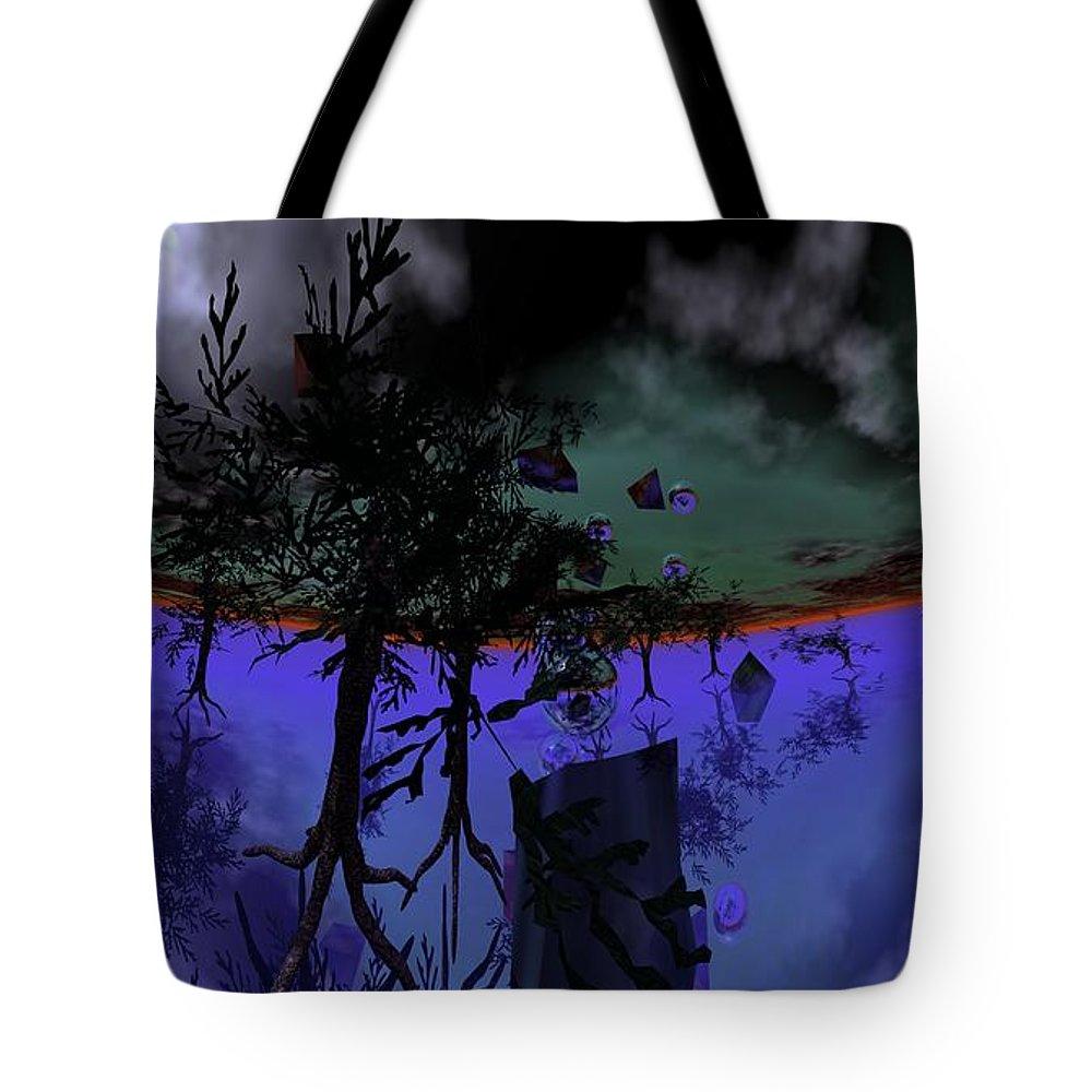 Digital Painting Tote Bag featuring the digital art Homage by David Lane