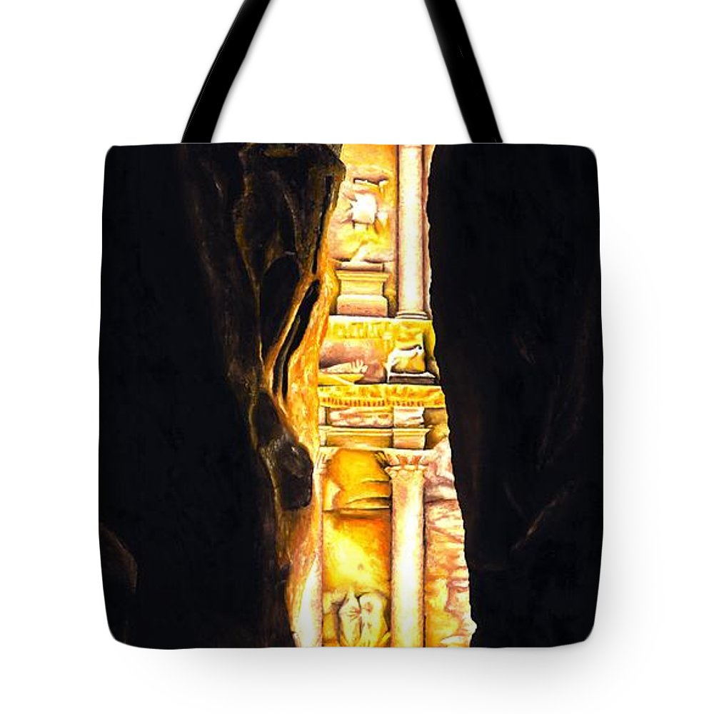 Bellydancer Tote Bag featuring the painting Homage To Petra by Richard Young