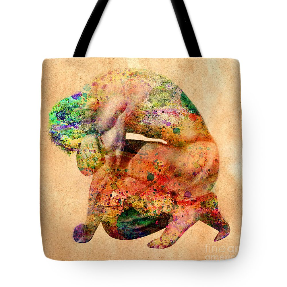 Male Nude Tote Bag featuring the digital art Hombre Triste by Mark Ashkenazi