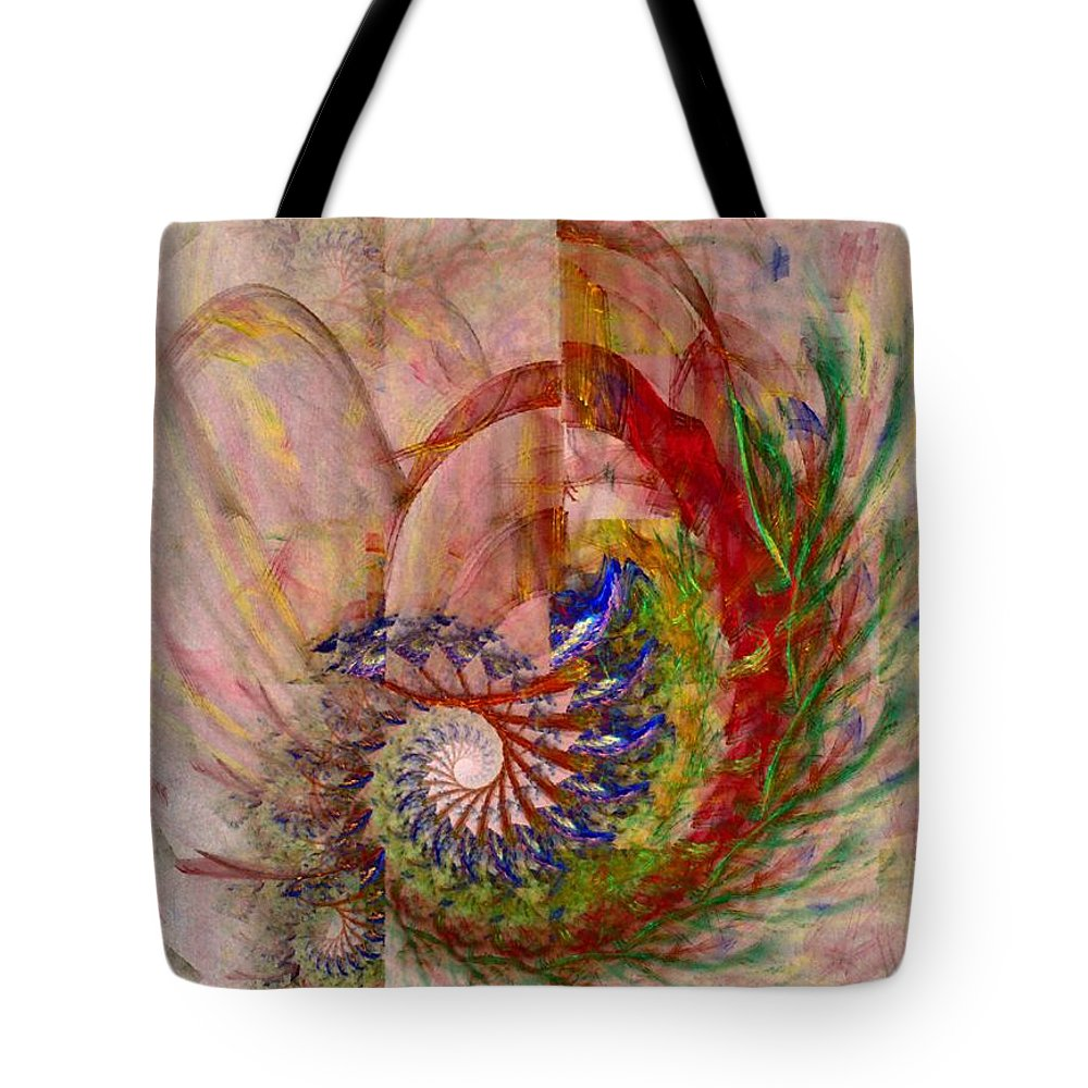 Non-representational Tote Bag featuring the digital art Home By The Sea by NirvanaBlues