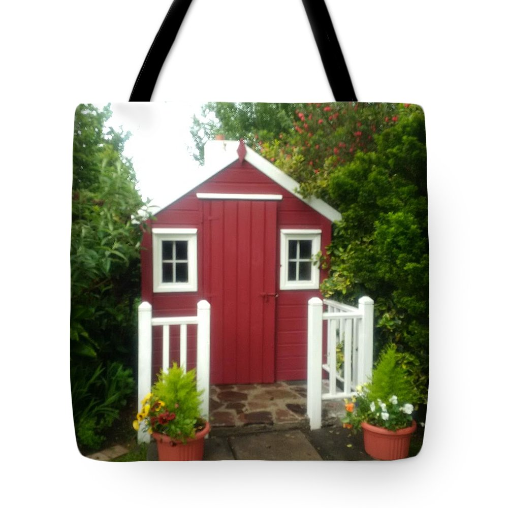 Wooden Shed Tote Bag featuring the photograph Home Made Shed by Eibhlin Murphy