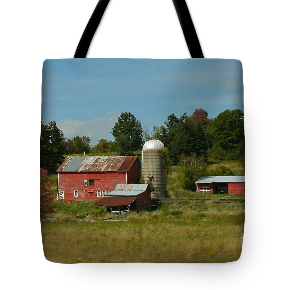 Farm Tote Bag featuring the photograph Home On The Farm by Rick Monyahan
