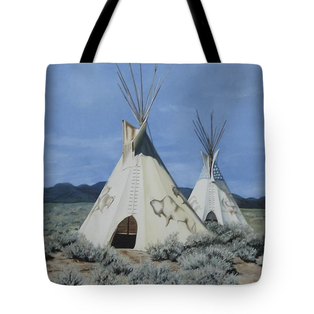 Art Tote Bag featuring the painting Home On The Range by Mary Rogers
