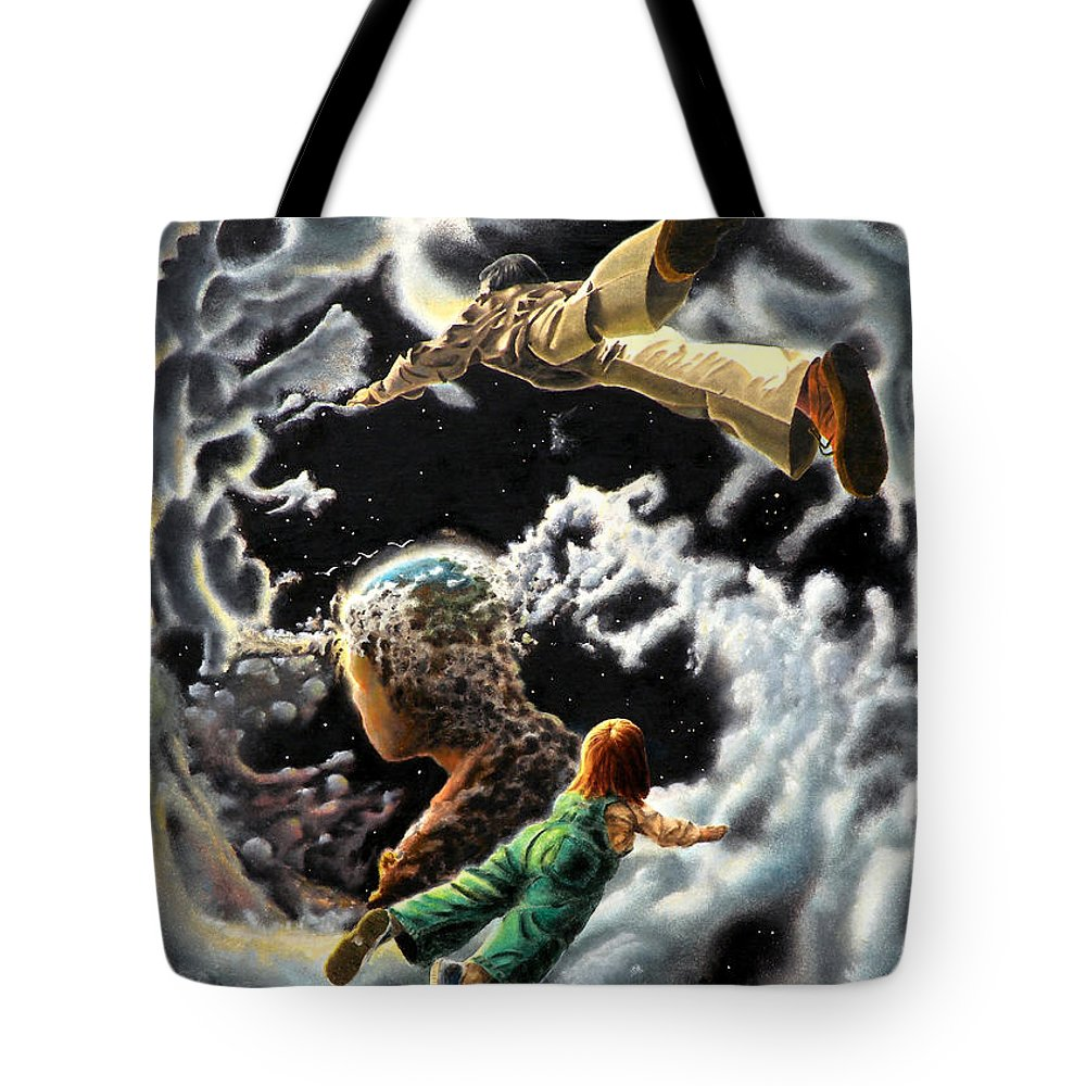 Fantasy Tote Bag featuring the painting Homecoming by Dave Martsolf