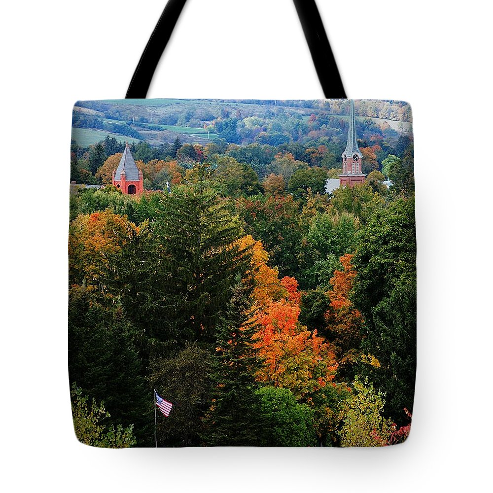 Landscape Tote Bag featuring the photograph Homer Ny by David Lane