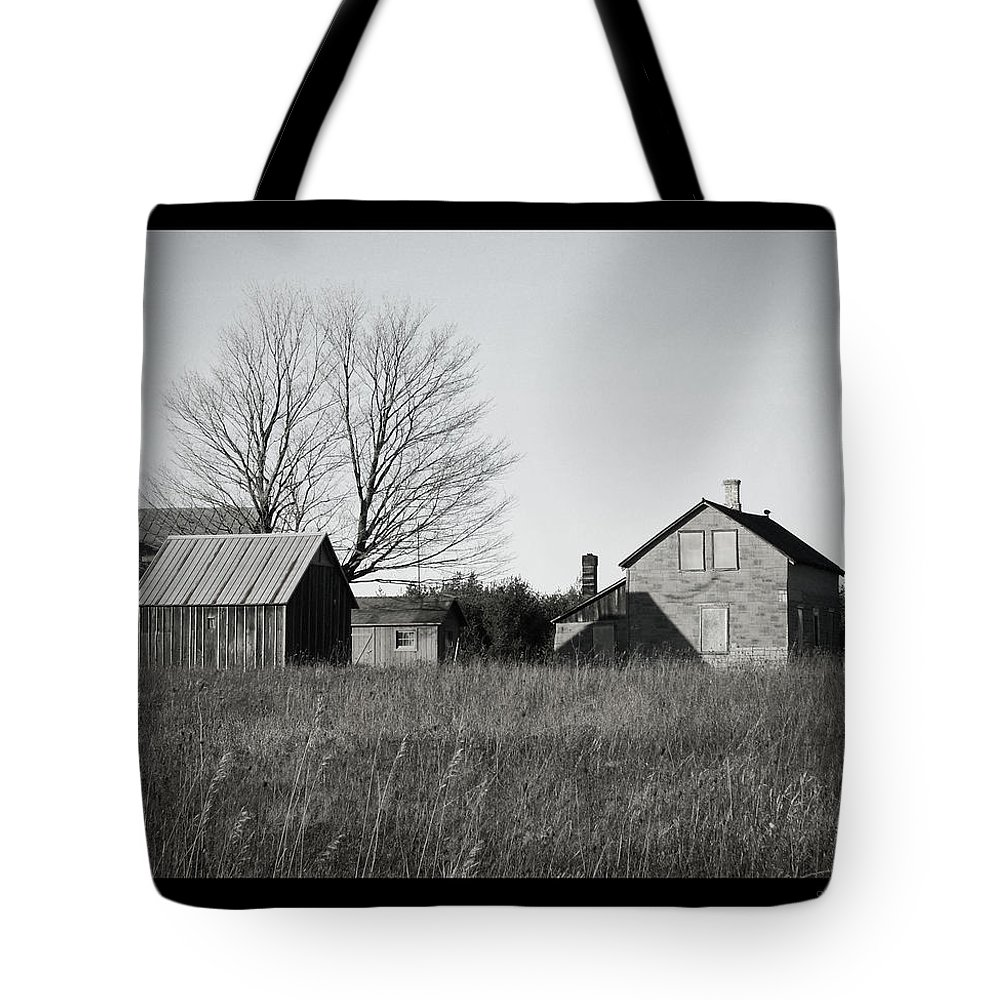 Deserted Tote Bag featuring the photograph Homestead by Tim Nyberg