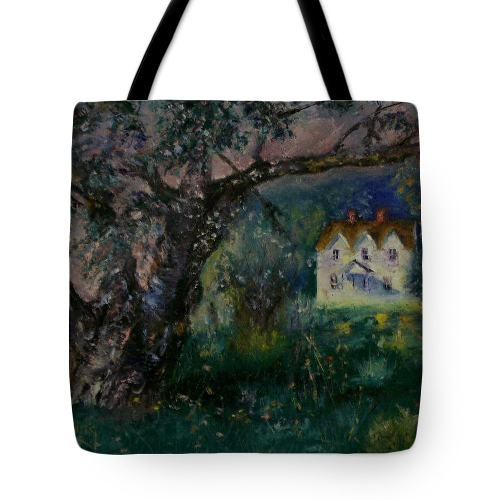 Landscape Tote Bag featuring the painting Homestead by Stephen King