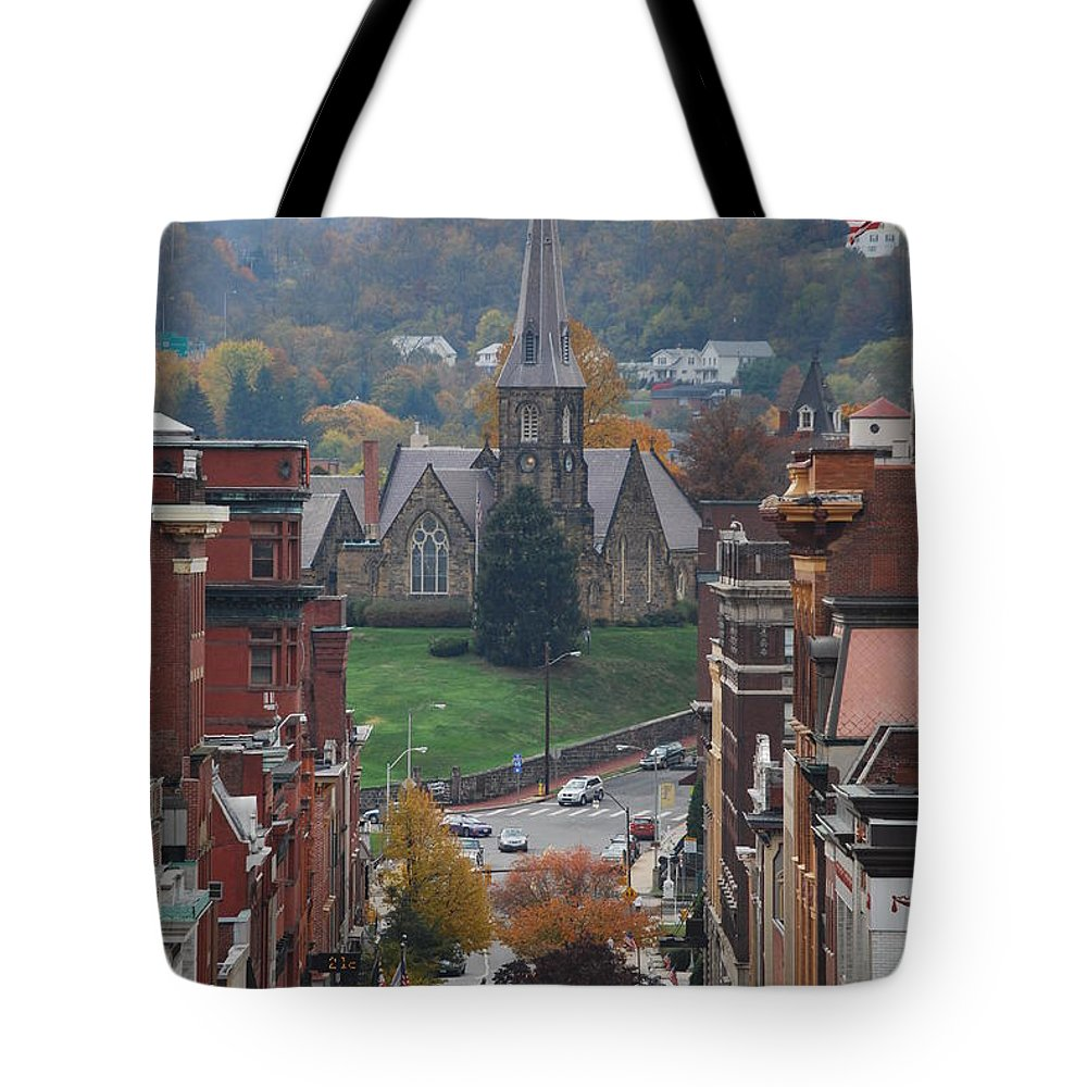 Cumberland Tote Bag featuring the photograph My Hometown Cumberland, Maryland by Eric Liller