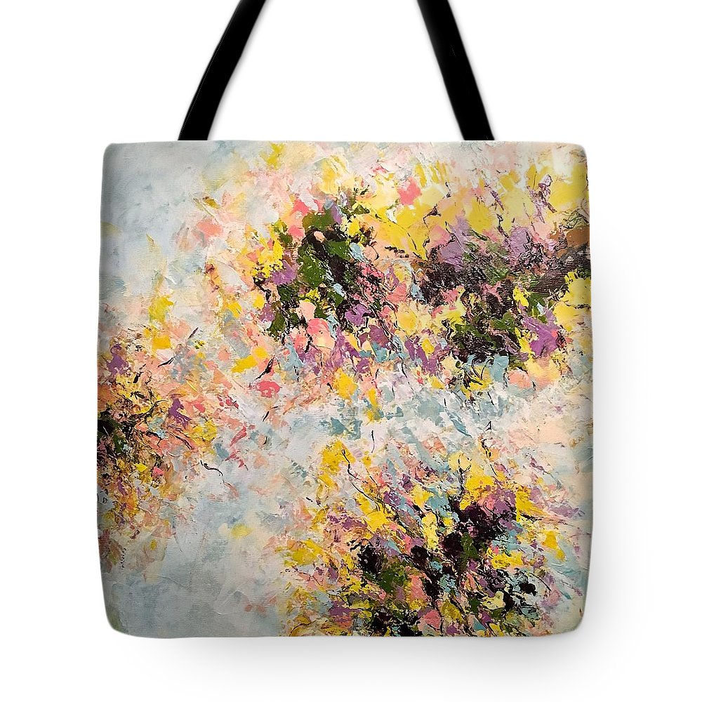Abstract Art Tote Bag featuring the painting Homeward Bound by Suzzanna Frank
