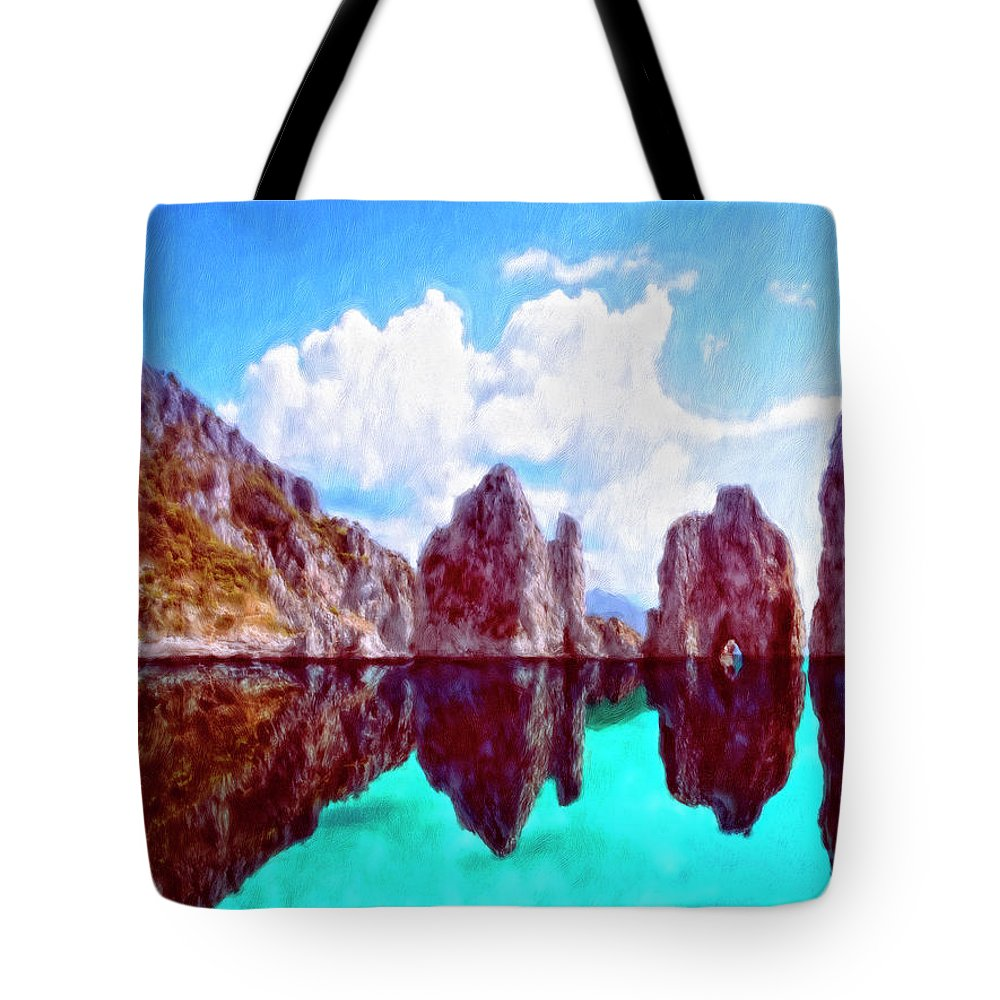 Honah Lee Tote Bag featuring the painting Honah Lee by Dominic Piperata