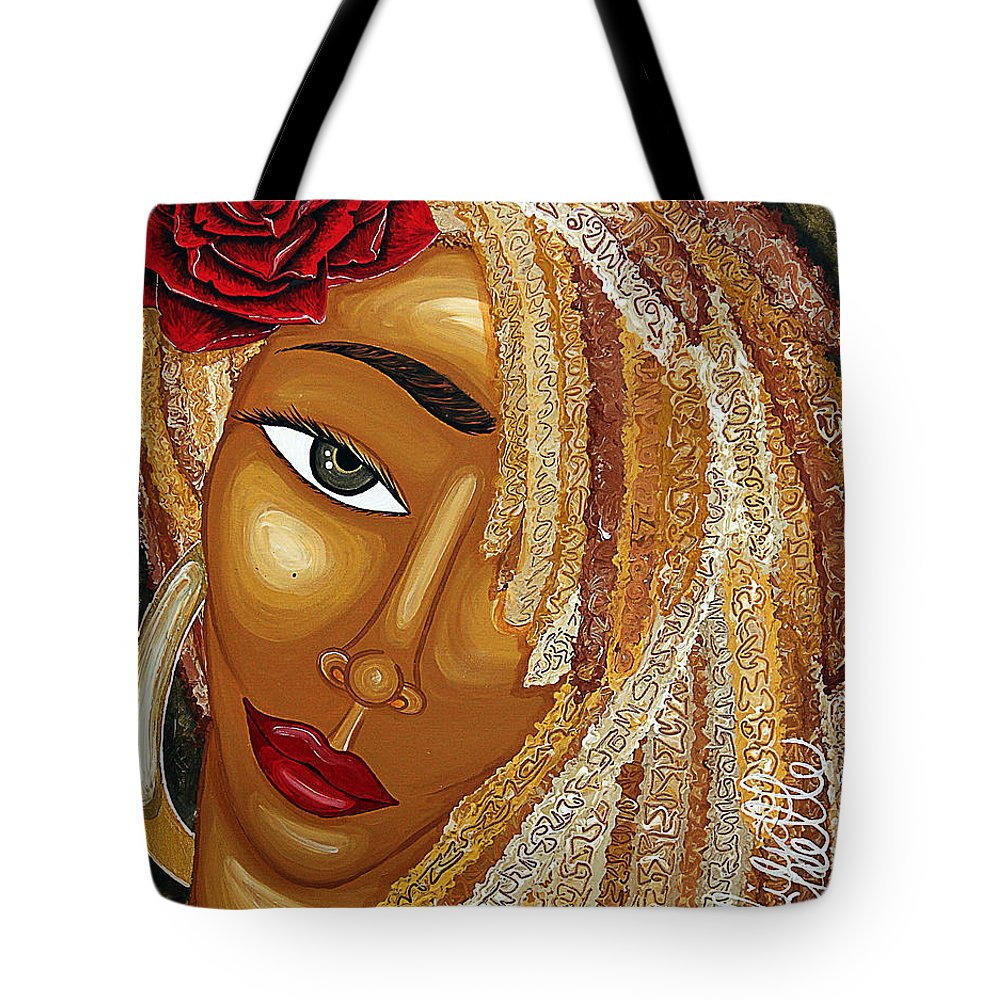 Aliya Michelle Tote Bag featuring the painting Honey Love by Aliya Michelle