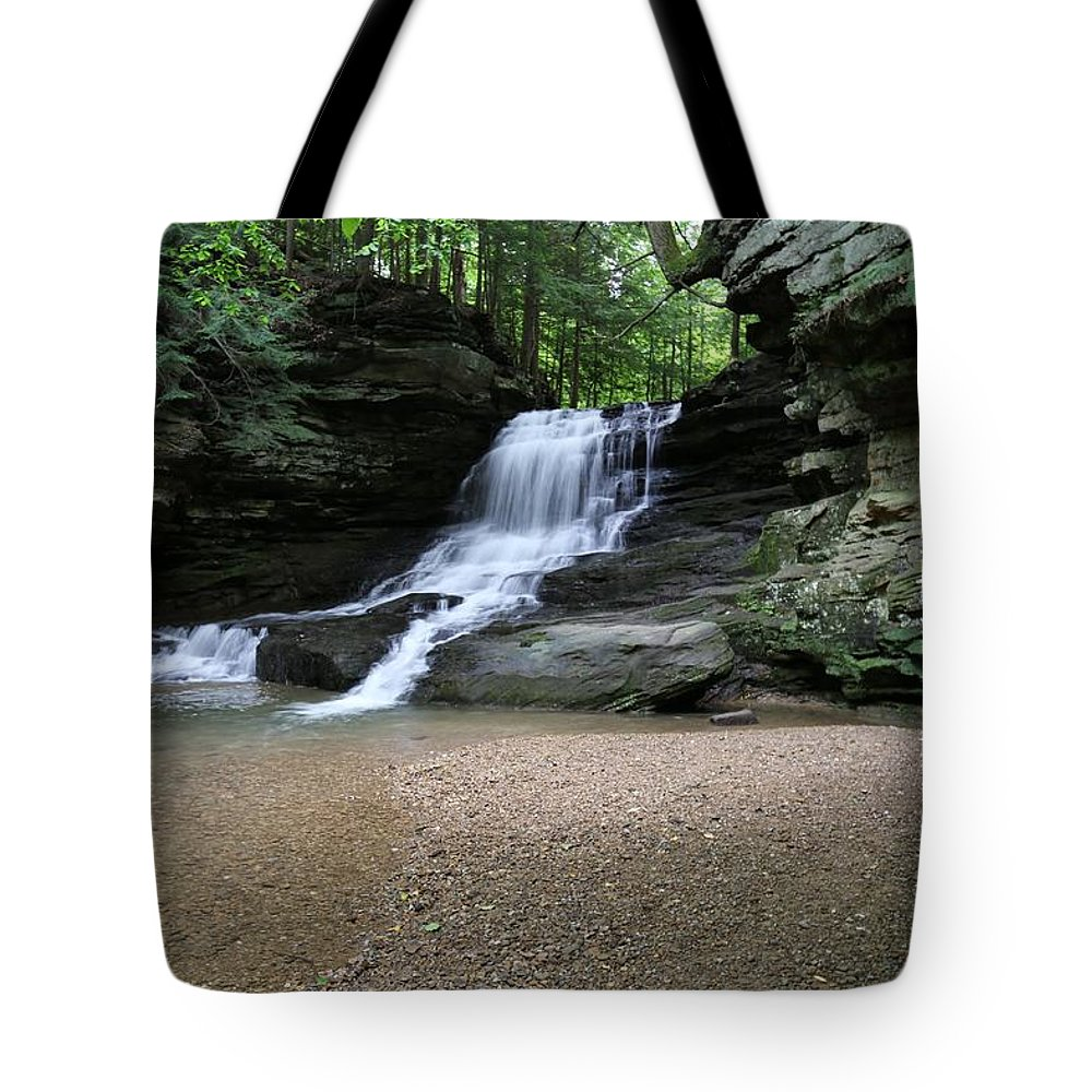 Falls Tote Bag featuring the photograph Honey Run Falls 3 by Jeff Roney