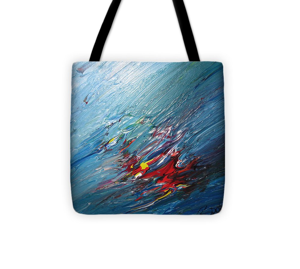 Abstract Tote Bag featuring the painting Honeymoon Bliss - B by Brenda Basham Dothage