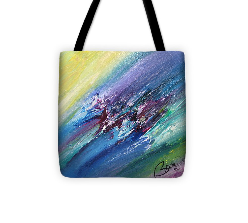 Abstract Tote Bag featuring the painting Honeymoon Bliss - C by Brenda Basham Dothage