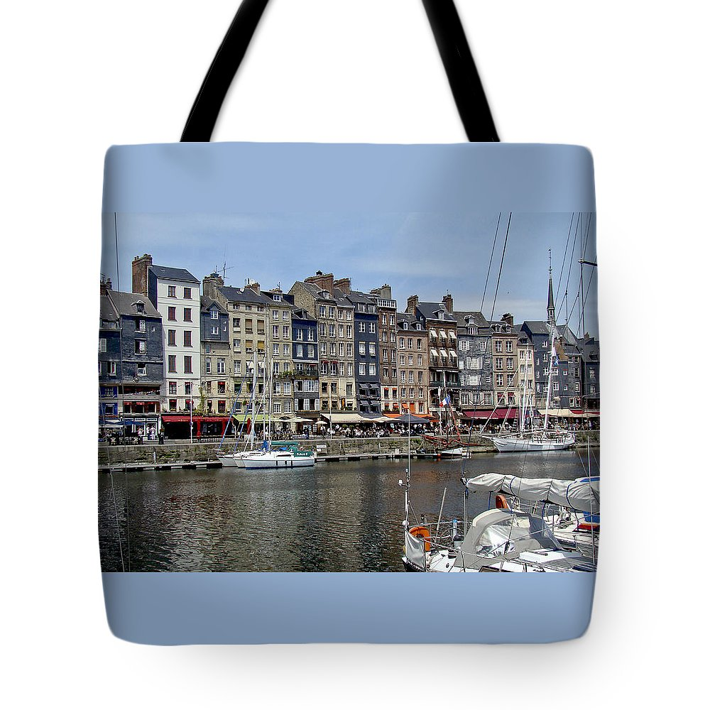 Honfleur Tote Bag featuring the photograph Honfleur - France by Mary Stanford