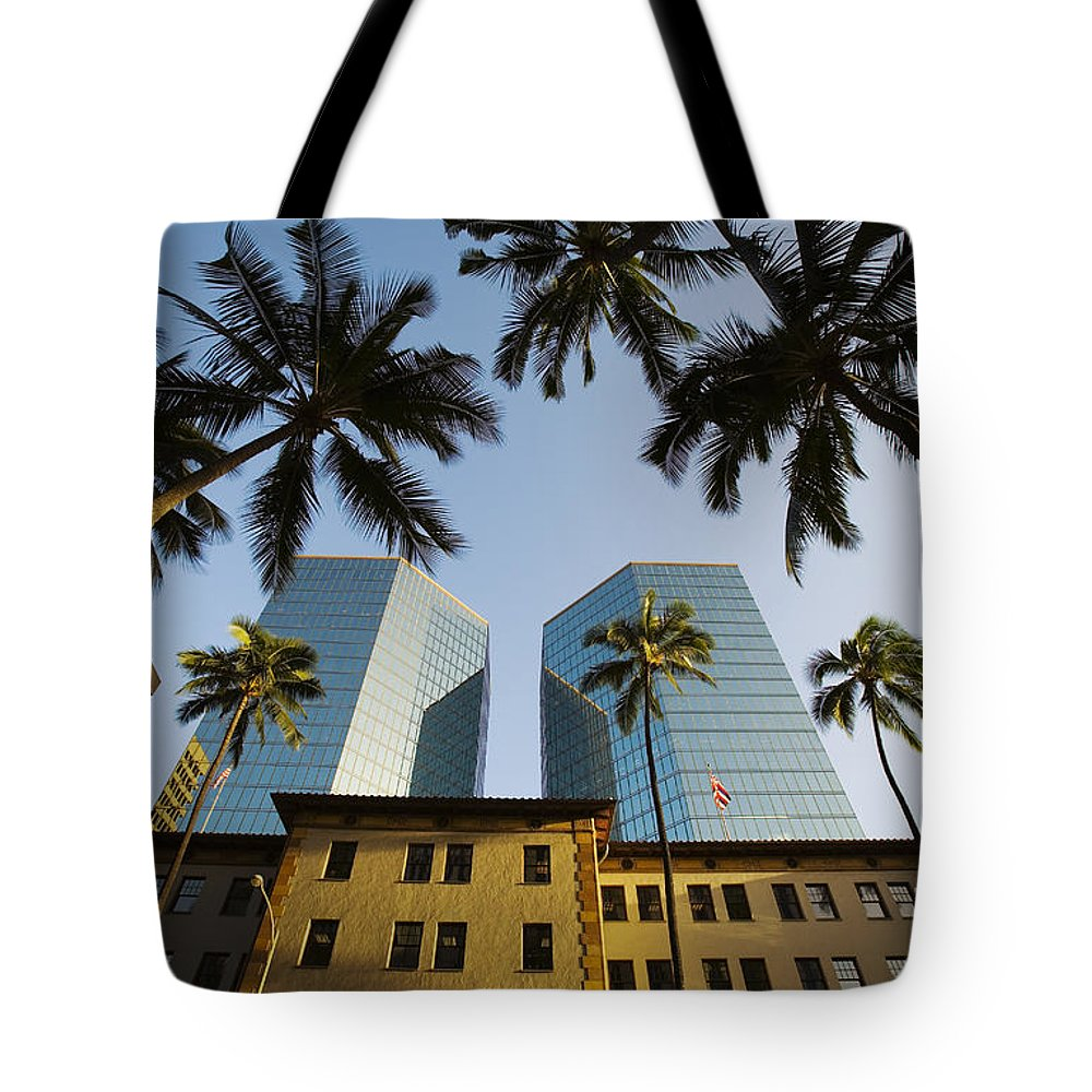 Afternoon Tote Bag featuring the photograph Honolulu by Dana Edmunds - Printscapes