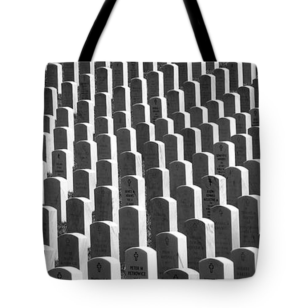 Graves Tote Bag featuring the photograph Honor Of Heroes by Richard Rizzo
