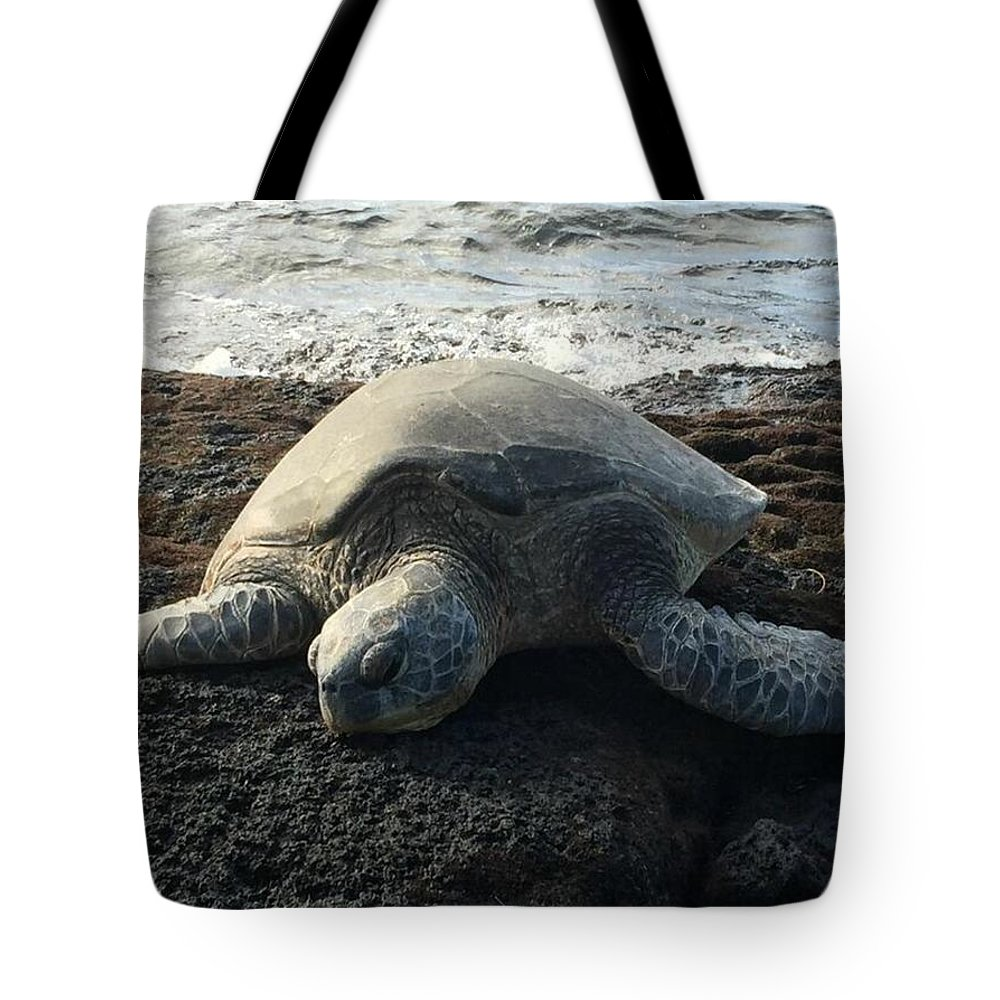 Turtle Tote Bag featuring the photograph Honu by Kelly Mayfield