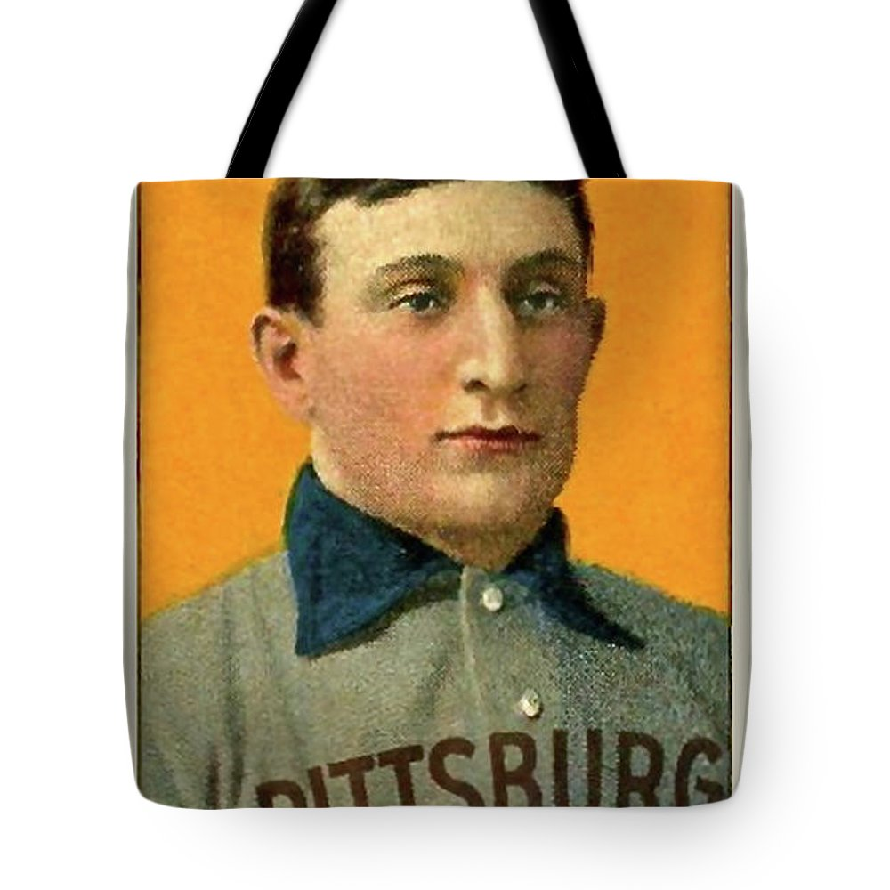 Honus Wagner Tote Bag featuring the photograph Honus Wagner, Pittsburg Pirates by Thomas Pollart