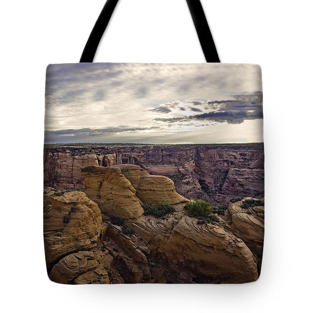 Canyon De Chelly Tote Bag featuring the photograph Hoodoos Two by Paul Basile