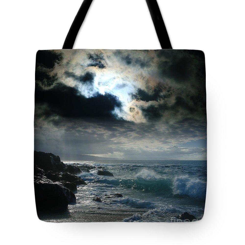 Aloha Tote Bag featuring the photograph Hookipa Waiola O Ka Lewa I Luna Ua Paaia He Lani Maui Hawaii by Sharon Mau