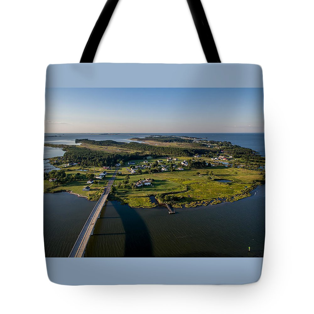 Hoopers Tote Bag featuring the photograph Hoopers Island By Air by Mid Atlantic Aerial