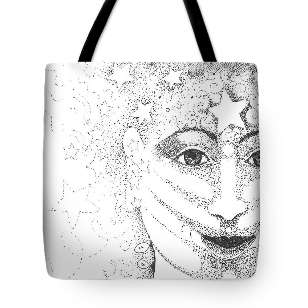 Hope Tote Bag featuring the drawing Hope And Rebirth by Helena Tiainen