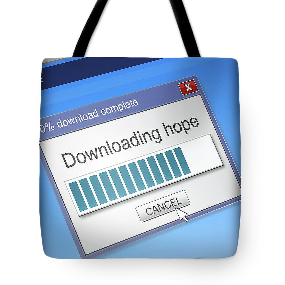 Hope Tote Bag featuring the digital art Hope Download Concept. by Samantha Craddock