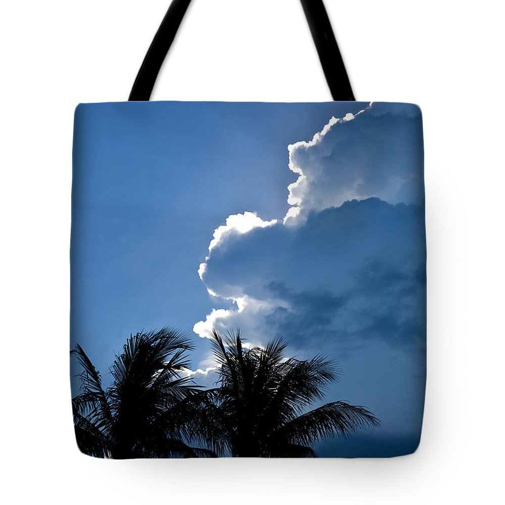 Sky Tote Bag featuring the photograph Hope Emerges From The Storm by Michelle Constantine