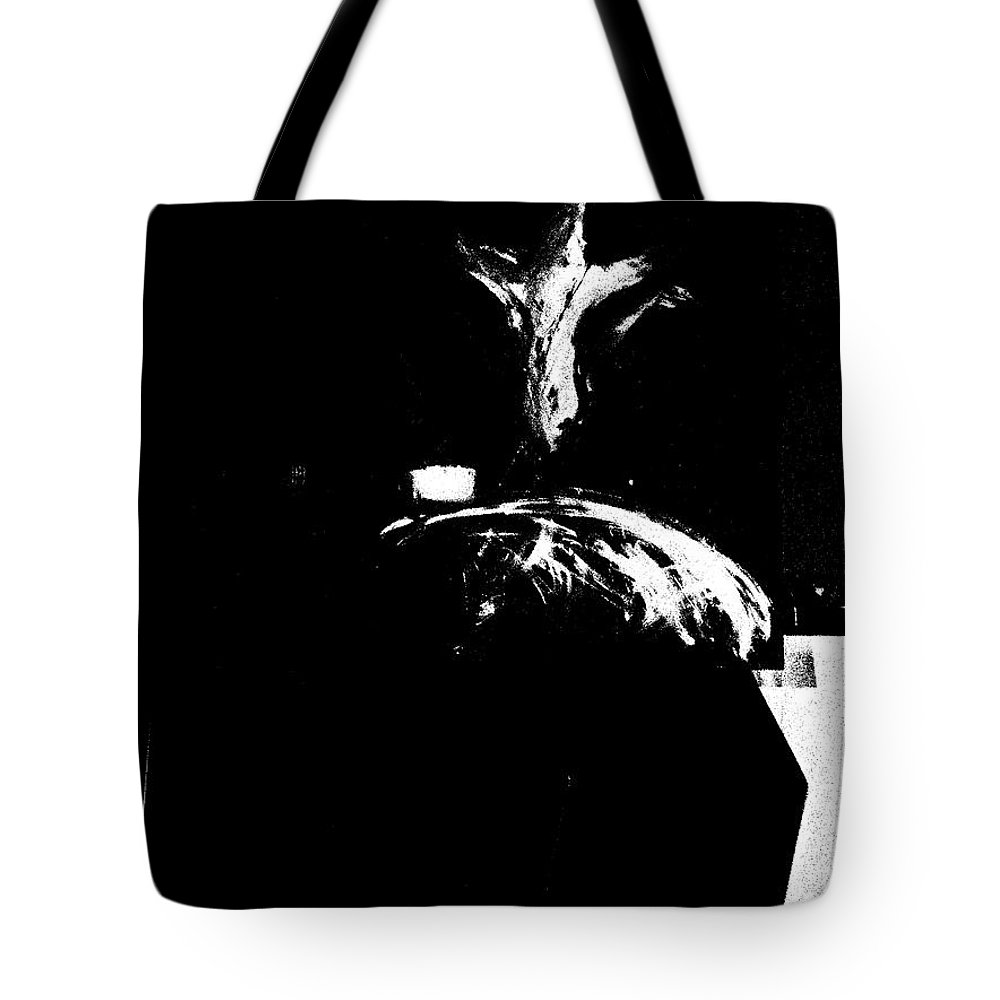 Jesus Tote Bag featuring the digital art Hope For The World - In Black And White by Jun Jamosmos